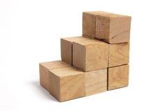 Pilhas de blocos de madeira Foto de Stock