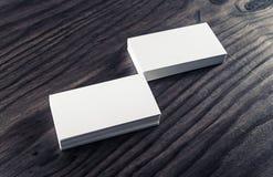 Pilhas de cartões Fotografia de Stock Royalty Free