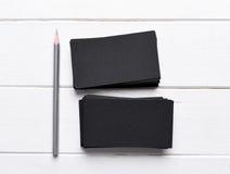 Pilhas de cartões pretos Imagens de Stock