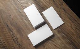Pilhas de cartões vazios Fotos de Stock Royalty Free