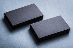 Pilhas de cartões vazios pretos Fotos de Stock