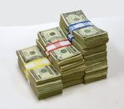 Pilhas de dinheiro Fotos de Stock