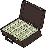 Mala de viagem do dinheiro Fotos de Stock