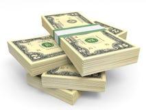 Pilhas de dinheiro Dois dólares Fotos de Stock