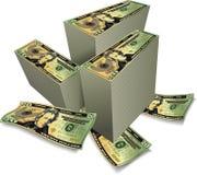 Pilhas de dólares Imagem de Stock