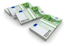 Pilhas de euro Foto de Stock