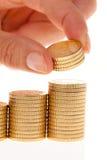 Pilhas de euro- moedas Imagens de Stock Royalty Free