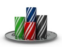 Pilhas de fichas Imagens de Stock Royalty Free