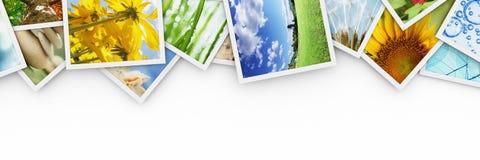Pilhas de fotos coloridas Fotografia de Stock Royalty Free