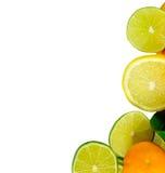 Pilhas de fruta cortada Imagens de Stock