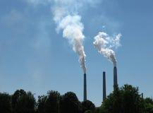 Pilhas de fumo Fotografia de Stock Royalty Free