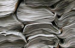 Pilhas de jornais Imagens de Stock Royalty Free