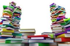 Pilhas de livros Foto de Stock