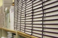 Pilhas de livros de texto numerados imagem de stock royalty free