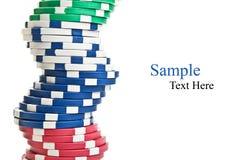 Pilhas de microplaquetas de póquer Imagens de Stock