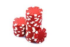 Pilhas de microplaquetas de póquer Imagem de Stock