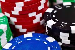 Pilhas de microplaquetas de póquer Foto de Stock