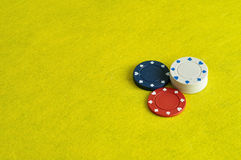 Pilhas de microplaquetas de póquer Fotos de Stock