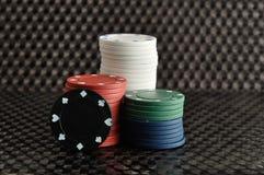 Pilhas de microplaquetas de póquer Imagens de Stock Royalty Free