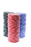 Pilhas de microplaquetas do póquer Imagem de Stock Royalty Free