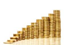 Pilhas de moedas Imagem de Stock Royalty Free