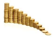 Pilhas de moedas Imagens de Stock Royalty Free