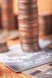 Pilhas de moedas Fotografia de Stock Royalty Free