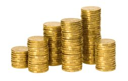 Pilhas de moedas australianas Foto de Stock Royalty Free
