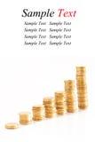 Pilhas de moedas de ouro Foto de Stock Royalty Free