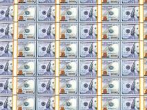 Pilhas de 100 notas de dólar Imagem de Stock Royalty Free