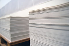 Pilhas de papel Foto de Stock Royalty Free