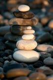 Pilhas de pedras do seixo Foto de Stock