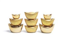 Pilhas de pepitas de ouro chinesas Fotos de Stock