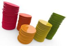 Pilhas de placas ilustração stock