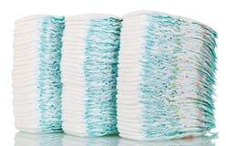 Pilhas de tecidos isolados no branco Foto de Stock Royalty Free