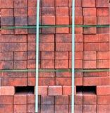 Pilhas de tijolos vermelhos Fotografia de Stock Royalty Free