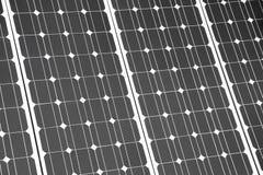 Pilhas de um painel solar Imagens de Stock