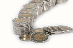 Pilhas do dinheiro Foto de Stock