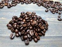 Pilhas do feijão de café Fotografia de Stock