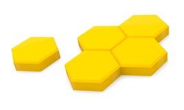 Pilhas do mel ilustração stock