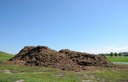Pilhas do mulch Fotografia de Stock
