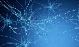 pilhas do neurônio 3d ilustração stock