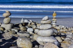 Pilhas do seixo e da rocha, movimentação de 17 milhas Foto de Stock Royalty Free