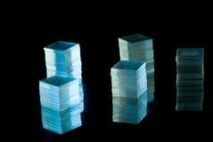 Pilhas do vidro fino imagem de stock