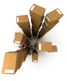 Pilhas enormes dos pacotes ilustração do vetor