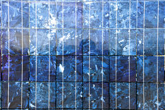 Pilhas fotovoltaicos solares Fotografia de Stock