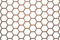 Pilhas menores do fundo de madeira da colmeia da abelha Imagem de Stock