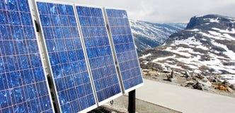 Pilhas Photovoltaic Fotografia de Stock