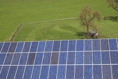 Pilhas Photovoltaic azuis Imagem de Stock Royalty Free