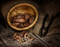 Pili nuts from the Philippines Stock Photo
